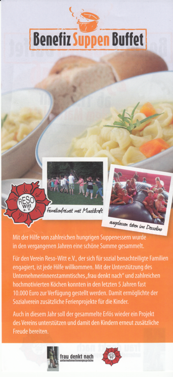 Flyer Benefiz-Suppen-Buffet, hinten